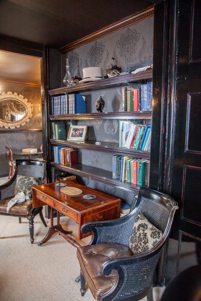 Honesty bar bookshelves